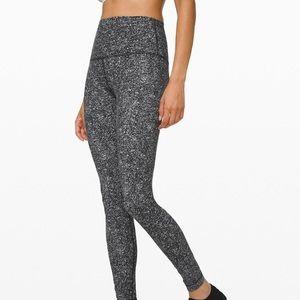 LULULEMON grey speckle high waist align leggings 4